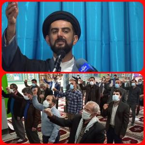 نمازگزاران شهرستان بهمئی ترور شهید فخری زاده دانشمندِ هسته ای ایران اسلامی را محکوم کردند
