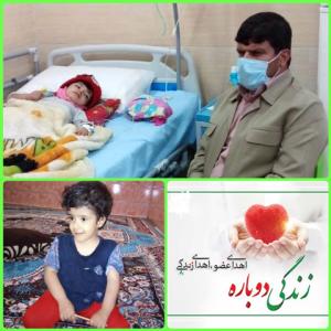 کارمند اداره تبلیغات اسلامی بهمئی اعضای بدن فرزند خردسال خود که دچار مرگ مغزی شده بود اهداء کرد