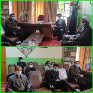 دیدار جمعی از معلمان فاقد مسکن  طرح ملی مسکن با امام جمعه  شهرستان بهمئی