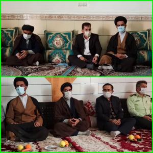 دیدار امام جمعه و مسئولان شهرستان بهمئی با خانواده های جانبازان