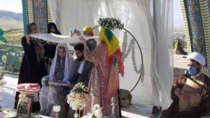جشن عقد عضو ستاد نماز جمعه در یادمان شهدای گمنام دهدشت/ترویج ازدواج آسان توسط امام جمعه