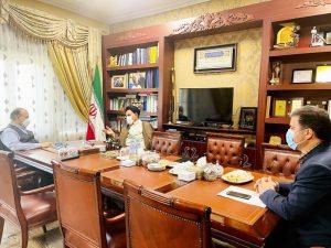 دیدارسید محمد موحد نماینده مردم شریف کهگیلویه بزرگ با وزیر ورزش و جوانان