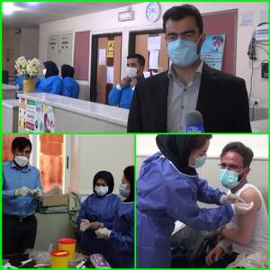 واکسن کرونای اسپوتنیک روسی  به کادر بهداشت و درمان شهرستان بهمئی تزریق شد